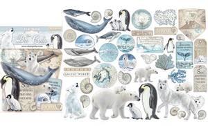 Bilde av Stamperia - Chipboard Die Cuts - 19 - Arctic Antartic