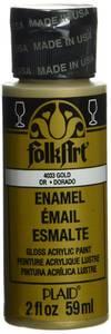 Bilde av FolkArt - Enamel Acrylic Paint - 4033 - Metallic Gold - 2oz