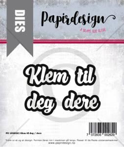 Bilde av Papirdesign Dies PD1900262 - Klem til deg / dere