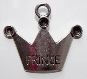 Bilde av Charms - Krone - Prince - Sølv - 4 stk