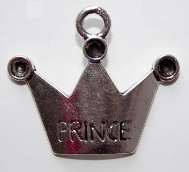 Charms - Krone - Prince - Sølv - 4 stk
