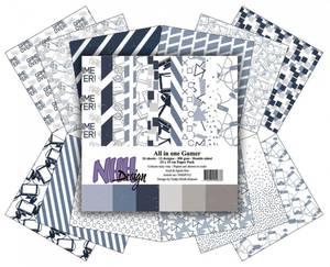 Bilde av NHH Design - Paper pad 15x15 cm - NHHP312 - All in one Gamer