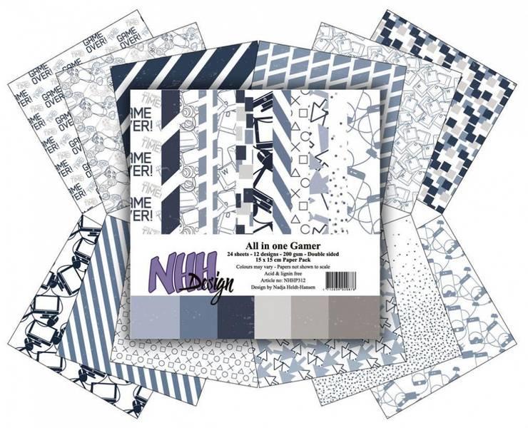 NHH Design - Paper pad 15x15 cm - NHHP312 - All in one Gamer