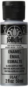 Bilde av FolkArt - Enamel Acrylic Paint - 4034 - Metallic Silver - 2oz