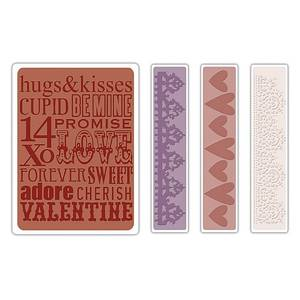 Bilde av Sizzix - Texture Fades - A2 - 657490 - Valentine Background
