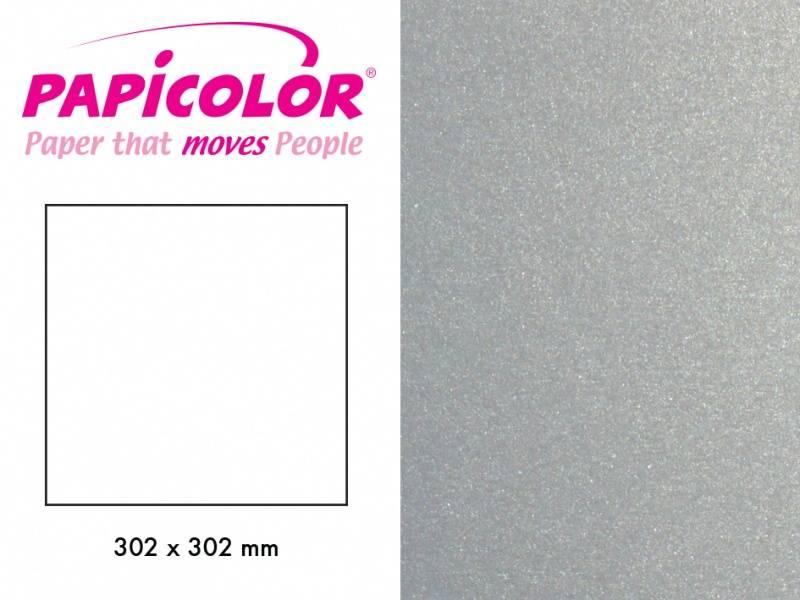 Papicolor - Kartong - 12x12 - 334 - Metallic - Silver