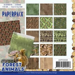 Bilde av Find It - Paperpack 6x6 ADPP10038 - Amy - Forest Animals