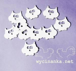 Bilde av Wycinanka - Chipboard - Ugler - 10 stk
