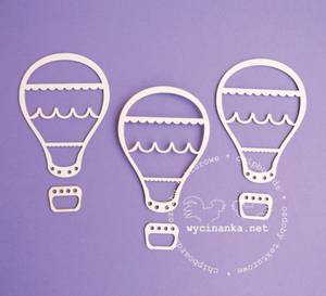 Bilde av Wycinanka - Chipboard - Luftballong - 3 stk