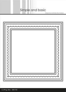 Bilde av Simple and basic - Dies - SBD105 - Card Base - Square w/inlay