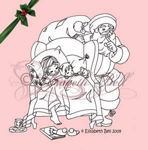 Bilde av Belles 'n Whistles - stamp - Night Before Christmas (NB Gulnet)
