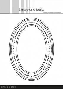 Bilde av Simple and basic - Dies - SBD106 - Card Base - Oval w/inlay