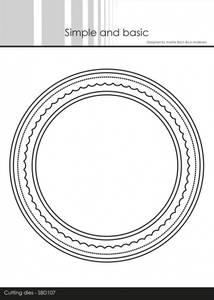 Bilde av Simple and basic - Dies - SBD107 - Card Base - Round w/inlay