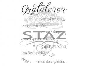 Bilde av Staz Stempelsett - Gratulerer med alt