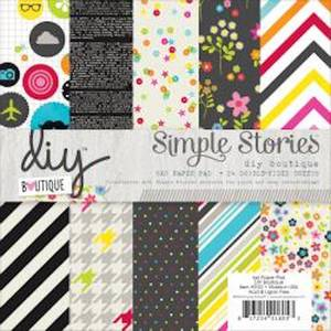 Bilde av Simple Stories - 5122 - 6x6 Paper Pad - DIY BOUTIQUE