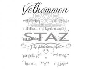 Bilde av Staz Stempelsett - Velkommen til alt