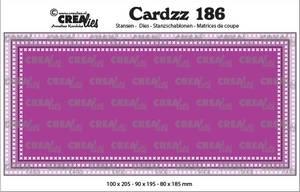 Bilde av Crealies - Dies - Cardzz 186 - Slimline F - with cross stitch
