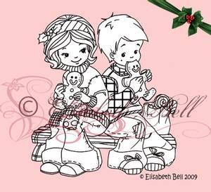 Bilde av Belles 'n Whistles - stamp - Gingerbread Love (NB Gulnet)