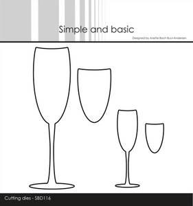 Bilde av Simple and basic - Dies - SBD116 - Champagne Glasses