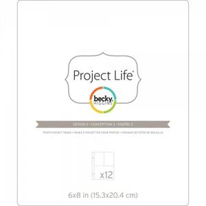 Bilde av Project Life - 97733 - Photo Pocket Pages - 6x8 - DESIGN 3