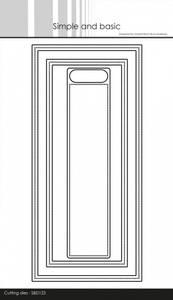 Bilde av Simple and basic - Dies - SBD123 - Frames - Slimcard