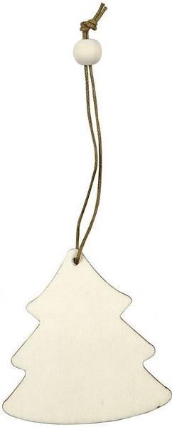 Wood - Treoppheng - Juletre - 6 cm