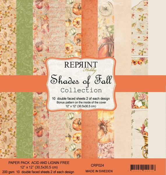 Reprint - 12x12 - CRP024 - Shades of Fall Collection Pack