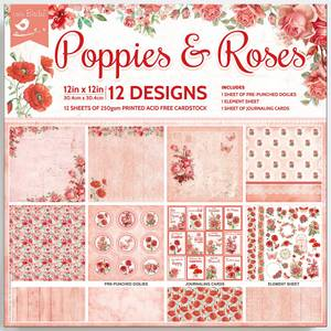 Bilde av Little Birdie - 12x12 Paper Pack - Poppies and Roses