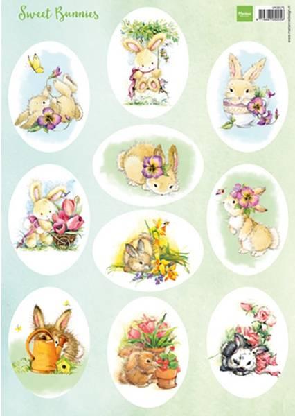 Marianne Design - Klippeark VK9575 - Sweet Bunnies
