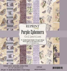 Bilde av Reprint - 12x12 - CRP025 - Purple Ephemera Collection Pack