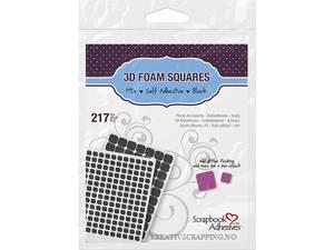 Bilde av 3L - Scrapbook Adhesives - 3D Foam Squares - 2mm - Black - Mix