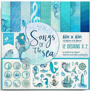Bilde av Little Birdie - 6x6 Paper Pack - Songs Of The Sea