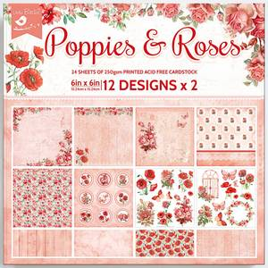 Bilde av Little Birdie - 6x6 Paper Pack - Poppies & Roses