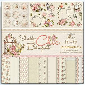 Bilde av Little Birdie - 6x6 Paper Pack - Shabby Chic Bouquet
