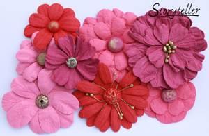 Bilde av Storyteller -  Ass blomster m senter - Rød - 4044