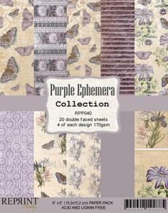 Bilde av Reprint - 6x6 - RPP040 - Purple Ephemera Collection pack