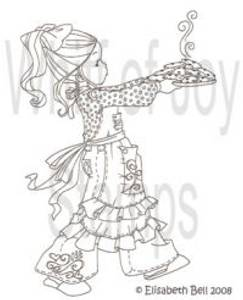 Bilde av Whiff of Joy - umounted rubber stamp - Willow with cookies