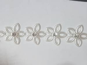 Bilde av Kort & Godt - RI142 - Bånd med Perle blomst & Bling - 15mm
