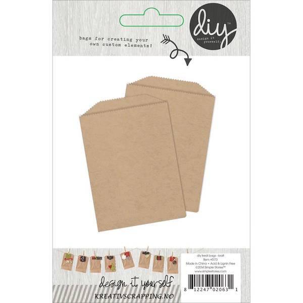 Simple Stories  - 5173 - DIY TREAT BAGS - KRAFT - 12 stk