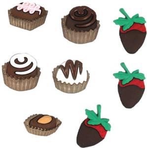 Bilde av Dress it up - Buttons - 6544 - Decadence - sjokolade muffins