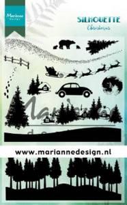 Bilde av Marianne Design - CS1040 - Clearstamp - Silhouette Christmas