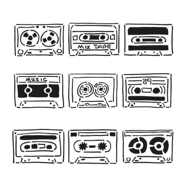 The Crafter's Workshop - Template - TCW6X6-401 - Mix Tape