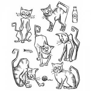 Bilde av Tim Holtz - Stampers Anonymous - CMS251 - Crazy Cats