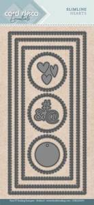 Bilde av FIT - Dies - CDECD0055 - Card Deco Essentials - Slimline Hearts