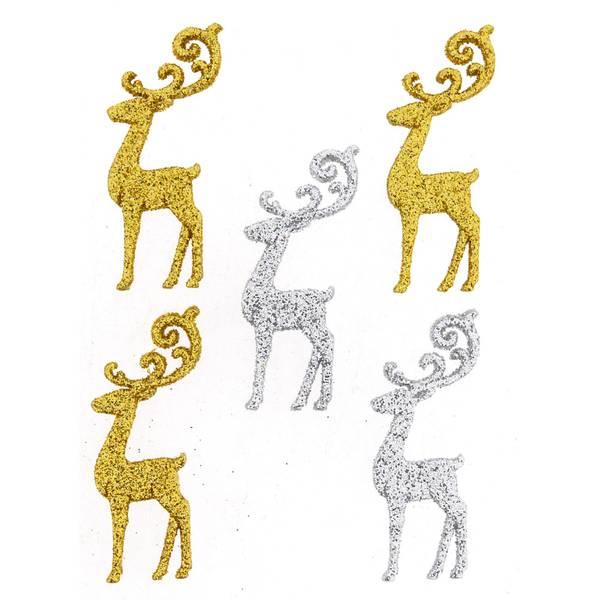 Dress it up - Buttons - 9076 - Jul - Elegant Reindeer
