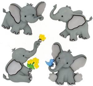 Bilde av Dress it up - Buttons - 8976 - Tiny Trunks - Baby elefant