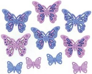 Bilde av Dress it up - Buttons - 9315 - Sweet Butterflies