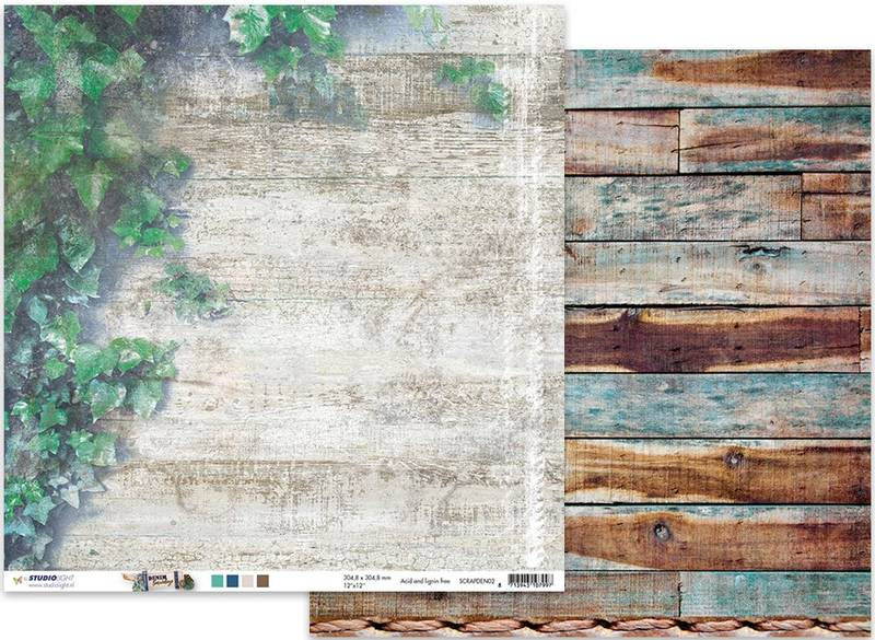 Studiolight - 12x12 - ScrapDEN02 - Denim Saturdays - 02