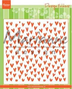 Bilde av Marianne Design - DF3438 - Design folders - Trendy hearts