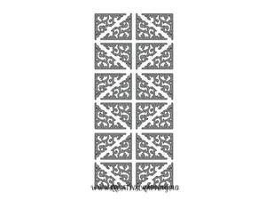 Bilde av Klistremerker - 0086 - Outline stickers - Klassiske hjørner sølv